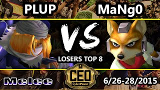 CEO 2015 - Plup (Sheik) Vs. C9 Mango (Fox) SSBM Losers Top 8 - Smash Melee