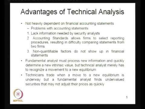 Mod-01 Lec-19 Technical Analysis - I