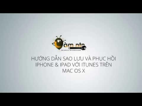 Hướng dẫn sao lưu & phục hồi iPhone + iPad với iTunes