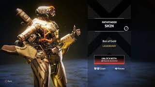 PATHFINDER LEGENDARY SKIN - BOT OF GOLD (IN-STORE VIEW) (APEX LEGENDS EXCLUSIVE SKIN)