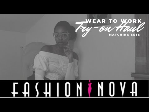 "💃🏾Fashion Nova Try-on Haul |  Young Professional ""Wear To Work""  Edition (2019)"