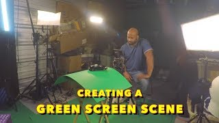 How to make a movie in a storage unit - creating a green screen scene in studio
