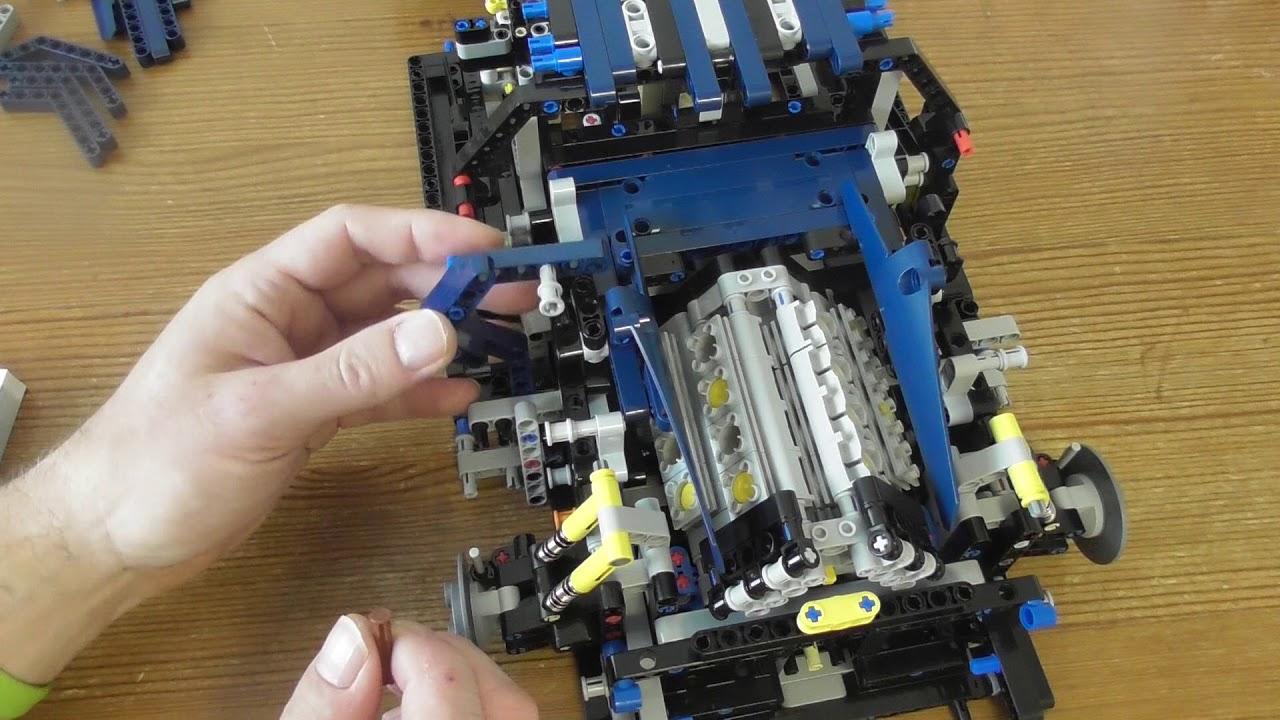 building lego technic bugatti chiron set 42083 part 8. Black Bedroom Furniture Sets. Home Design Ideas