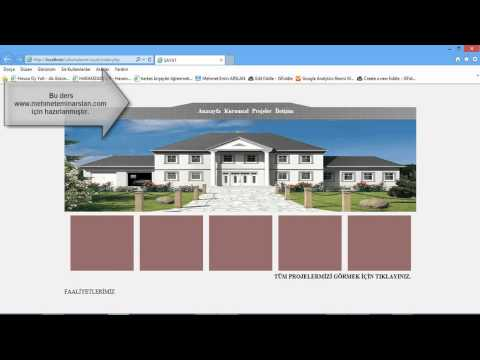 PHP ile Yönetilebilir Dinamik Kurumsal Site Tasarımı ve Yapımı 1