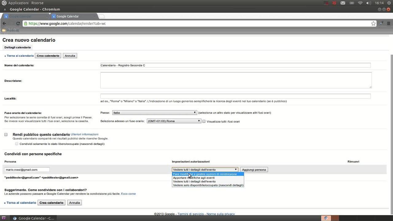 Calendario Condiviso Gmail.Creare Un Calendario Registro Condiviso Con Google Calendar
