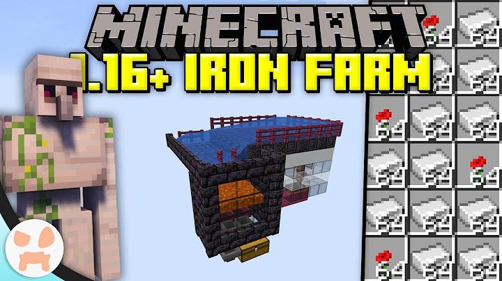 minecraft 116 iron farm tutorial  efficient easy compact