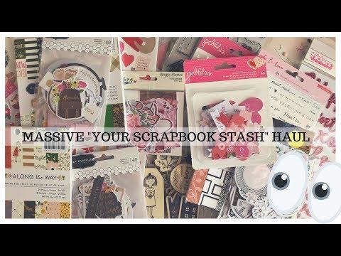 MASSIVE!!!! CRAFTY YOUR SCRAPBOOK STASH HAUL!!!! COME SEE!!!