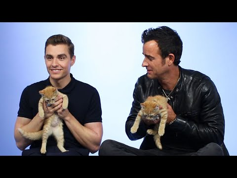Thumbnail: Justin Theroux & Dave Franco Play With Kittens
