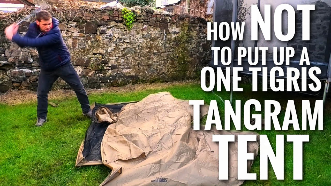 How NOT to put up the One Tigris Tangram Double UL Budget Backpacking Tent (First Look Review)
