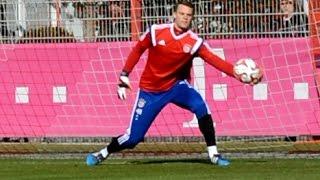 Manuel Neuer - Pepe Reina - Tom Starke - Ivan Lucic - Goalkeeper Training Torwarttraining FC Bayern