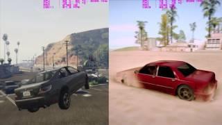 GTA V [vs] GTA San Andreas (ENB Graphics Mod) Ultra Settings [GTX 1080, i7 4790k]