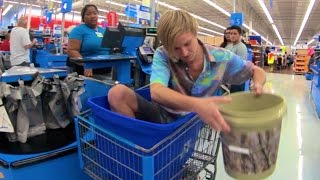 WALMART: Ice Bucket Challenge IN STORE! (How To Get Kicked Out of Walmart 5)