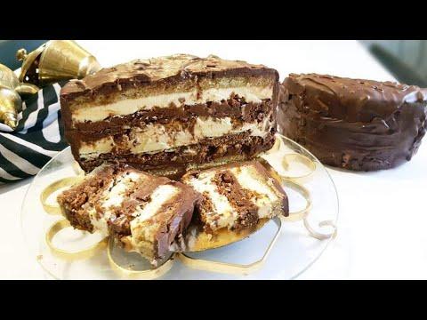 gâteau-moelleux-2-crème-et-2-biscuit-#dacquoise-#joconde-كيكة-بطبقات-وحشوة-مختلفة-#كيكة_عيد_ميلاد