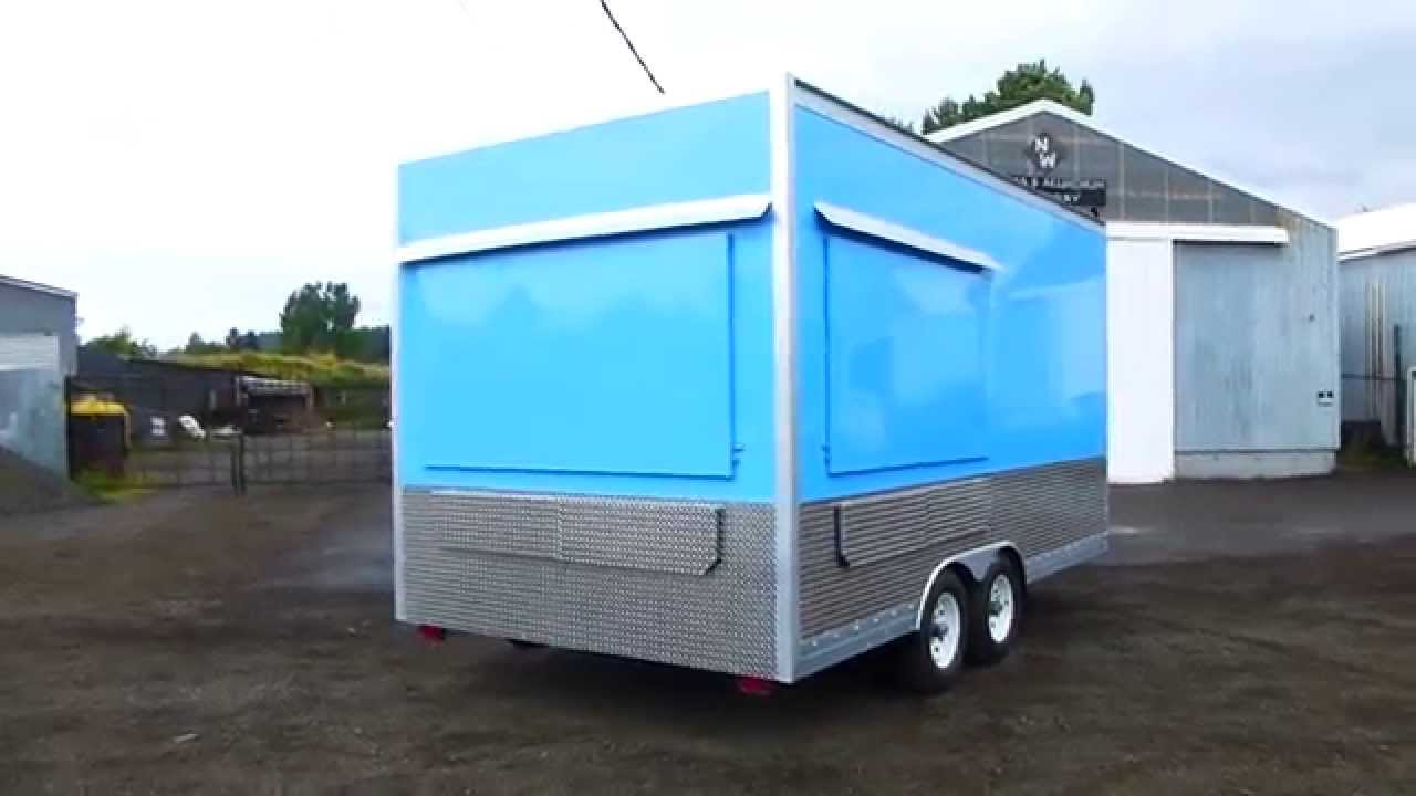 Outside)16ft Kitchen Double Axle Food Trailer - YouTube