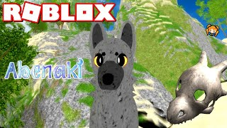 ROBLOX ABENAKI! Raptor Wolf Crystal Map Adventure! 💎 Amazing Wolf Game!