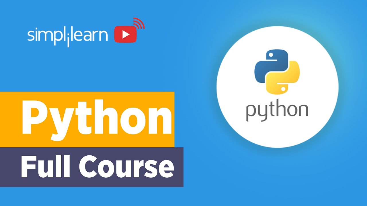 Python Full Course | Learn Python In 8 Hours | Python Tutorial For Beginners