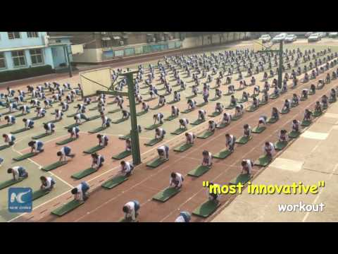 "Chinese primary school invents ""most innovative"" workout for students"