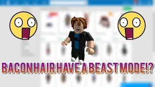 BACON HAIR HAVE PURPLE BEAST MODE FACE!? (ROBLOX)