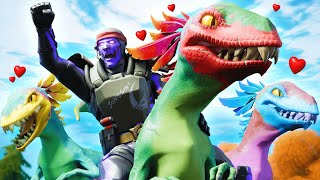 I tamed DINOSAURS in Fortnite!