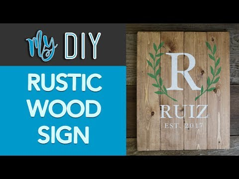 Rustic Wood Sign: Family Name (Great for Housewarming or Wedding Gift)