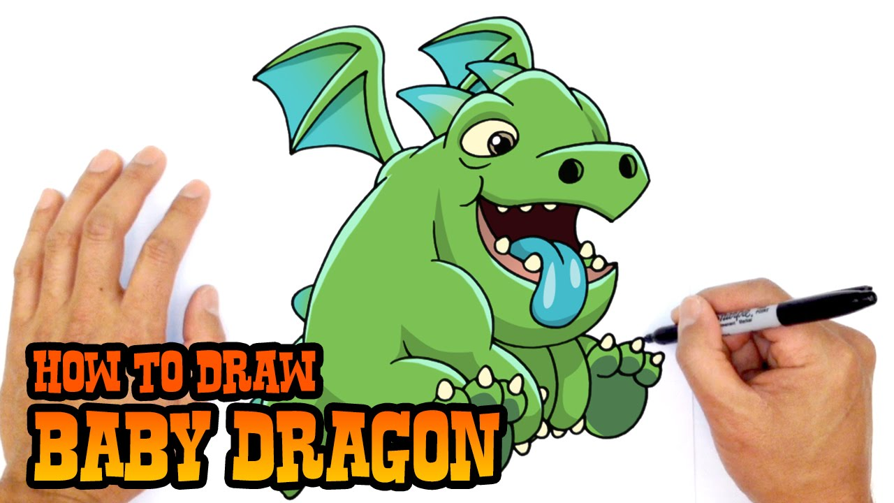 How To Draw Baby Dragon  Clash Royale