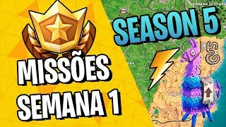 LOOK FOR RAYS FLOATING? HOW TO PERFORM ALL MISSIONS OF THE WEEK 1-FORTNITE ‹ VINOK4 › SEASON 5