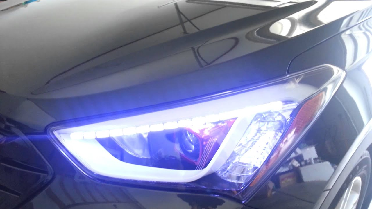My 2013 Santa Fe Head Light Youtube