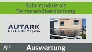 Solarmodule als Terrassenüberdachung - Die Auswertung
