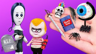 Never Too Old for Dolls! 12 DIY Addams Family School Supplies and Crafts