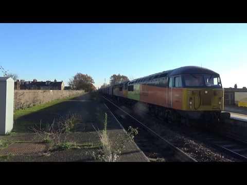 Colas Rail 56078 and 56096 Steel Train passing Leytonstone High Road