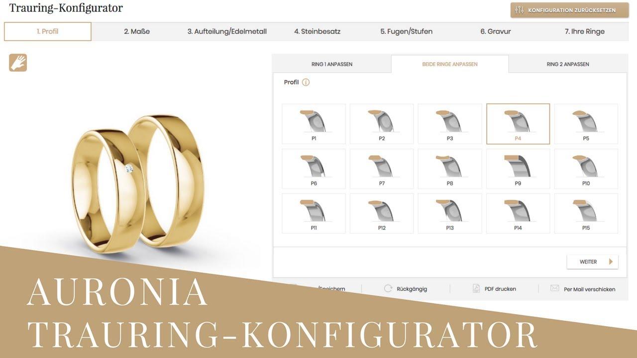 Auronia 3D Trauringkonfigurator