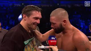 Tony Bellew & Alexander Usyk Sharing Touching Moment