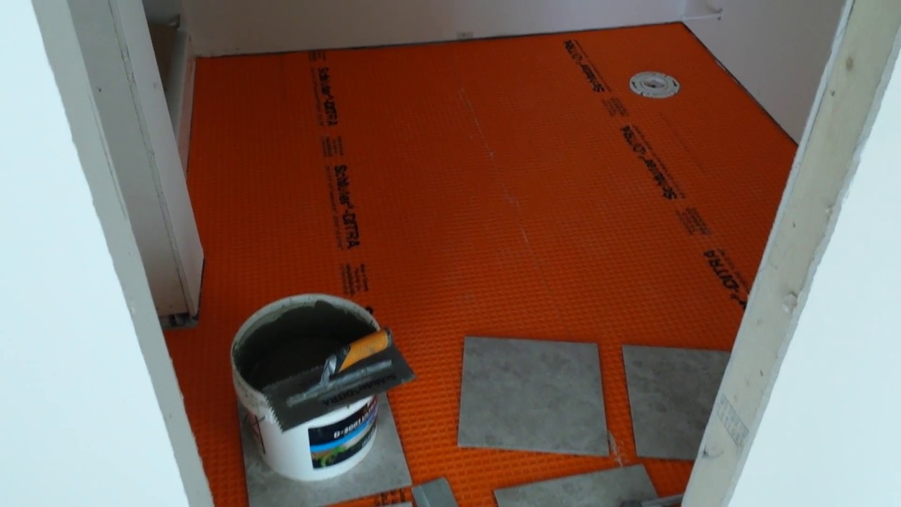 How To Install Tile Over Schluter Ditra Concrete Teppo Interiors Sun Prairie Wisconsin