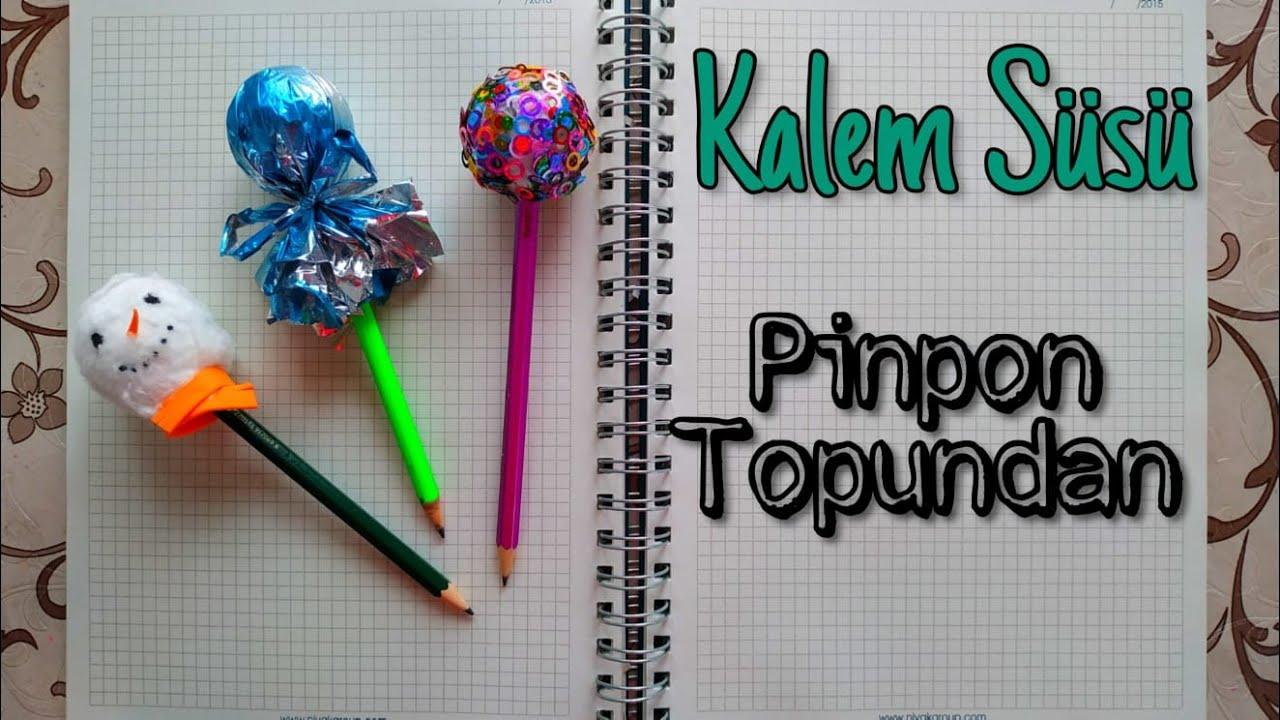 Pinpon Topundan Kalem Süsü Yapımı