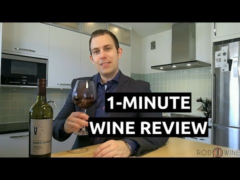 1 Minute Wine Review 2014 Dark Horse Cabernet Sauvignon