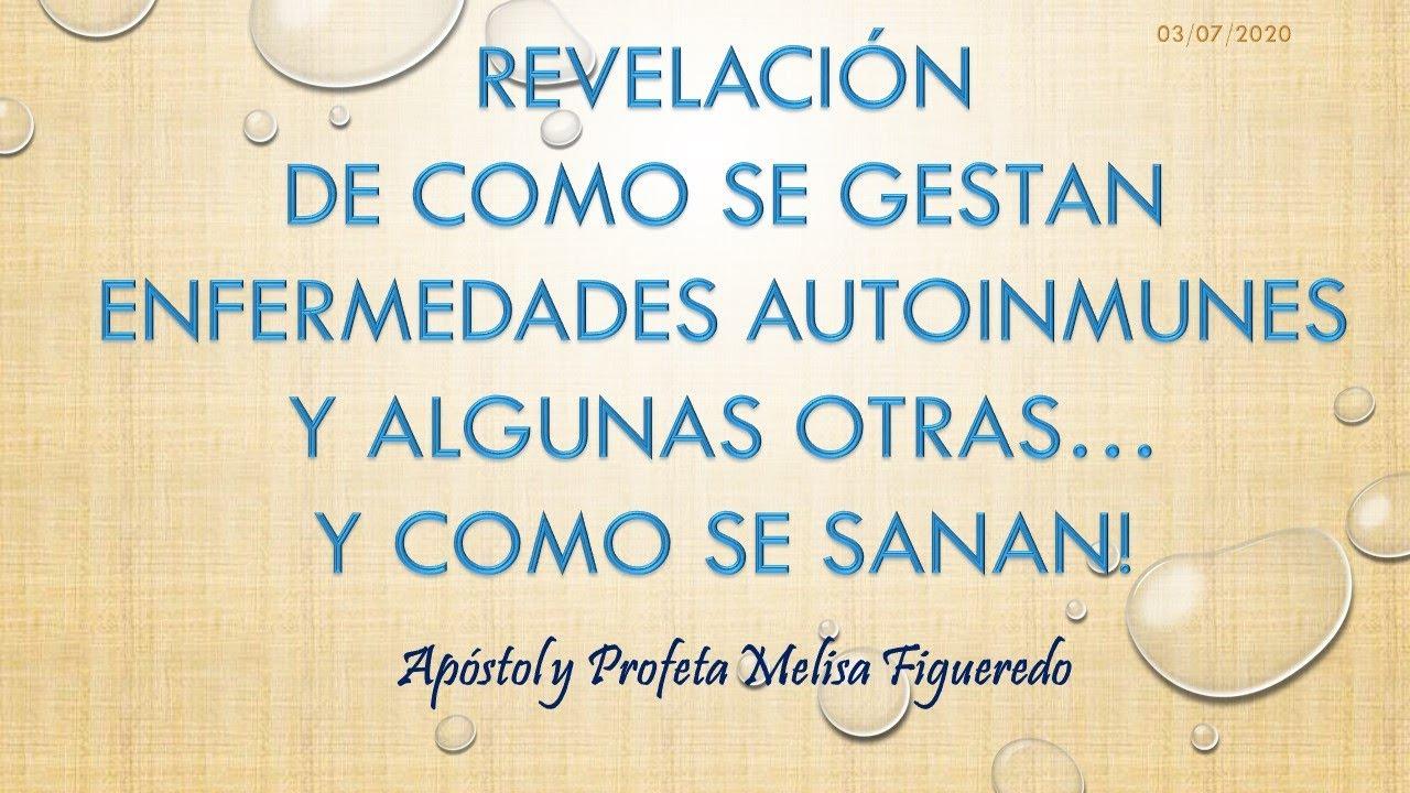 REVELACIÓN DE COMO SE GESTAN ENFERMEDADES AUTOINMUNES Y ALGUNAS OTRAS... Y COMO SE SANAN!