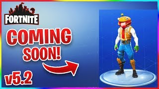 FORTNITE v5.2 LEAKED SKINS, EMOTES, WEAPONS AND GAMEMODES! (New Durr Burger Skin!)