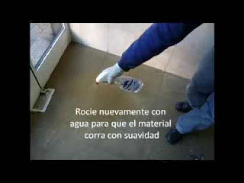 MICROCEMENTO Aplicacion Sobre Ceramicos 2013 YouTube
