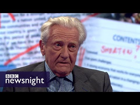 'The idea of a hard Brexit is not credible': Lord Heseltine - BBC Newsnight