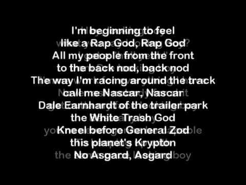 Eminem Rap God parole
