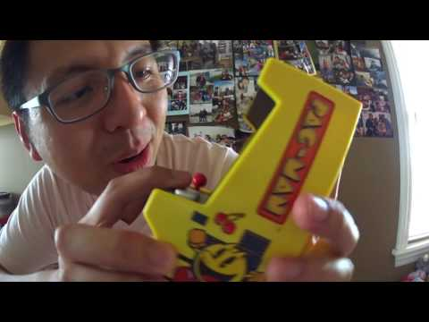 J #177  -【Review】New Pacman Color Mini Arcade Classic From Walmart By Bridge Direct