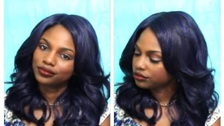 Blue Hair: Zury Sis Royal Swiss Pre-Tweezed Part Lace Wig LU