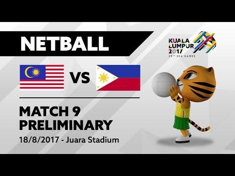 KL2017 29th SEA Games | Netball - MAS 🇲🇾 vs PHI 🇵🇭