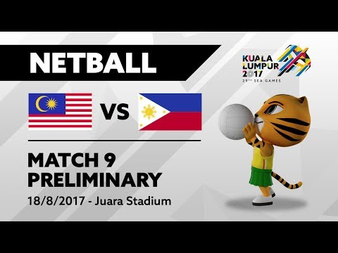 KL2017 29th SEA Games   Netball - MAS 🇲🇾 vs PHI 🇵🇭
