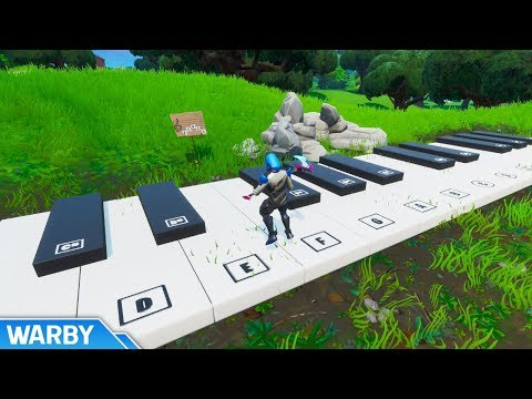 Play The Sheet Music At An Oversized Piano (Boogie Down Challenge) - Fortnite