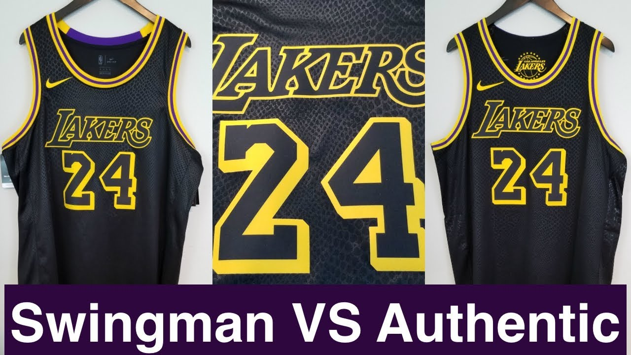 b0ef378e001c Kobe Bryant s Nike x NBA jersey Comparison Is Authentic better than  Swingman
