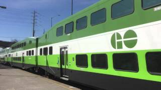 GO Train 28 with NEW metrolinx livery and cab car 307