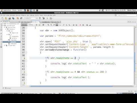 AJAX XMLHttpRequest - Javascript - Using POST Request - DETAILED - Part 3 of 4