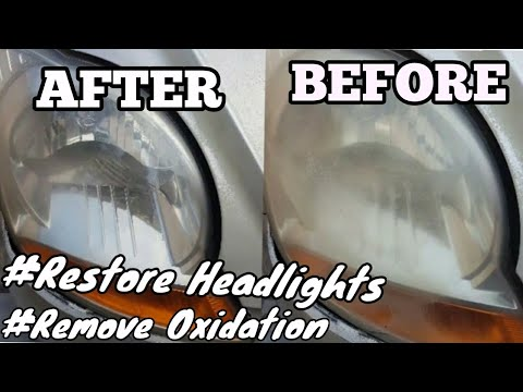 How to restore old headlights | Headlight Restorer Formula1 | car care |#formula1