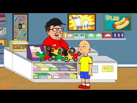 Caillou tries to make Fidget Spinners popular again